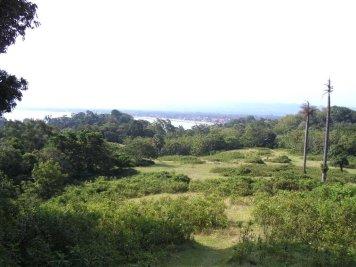 Pangandaran in the distance