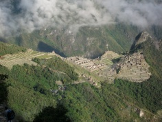 Machu Picchu from the trail.